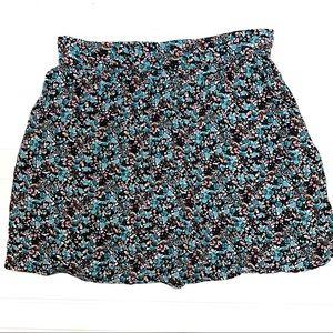 Garage sz M floral mini skirt